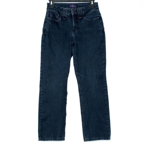 "NYDJ Denim - NYDJ ""Straight"" Jeans Womens 2 Petite E2"